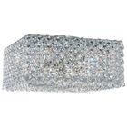 Refrax 4-Light Flush Mount Crystal Type: Swarovski Elements Travertine