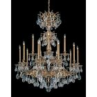 Milano 15-Light Chandelier Finish: Antique Silver, Crystal Color: Strass Silver Shade