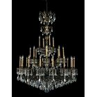 Milano 28-Light Chandelier Finish: Midnight Gild, Crystal Color: Strass Golden Teak