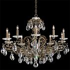 Filigrae 10-Light Chandelier Crystal Type: Spectra Clear, Finish: Antique Silver