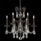 Genzano 6-Light Chandelier Finish: Aurelia, Crystal Type: Heritage Clear