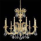 Genzano 9-Light Chandelier Crystal Type: Rock Clear, Finish: Florentine Bronze
