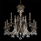 Genzano 15-Light Chandelier Crystal Type: Rock Clear, Finish: Parchment Gold