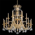 Genzano 21-Light Chandelier Crystal Type: Spectra Clear, Finish: Heirloom Gold