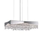 Riviera Crystal Chandelier Finish: Stainless Steel, Size: 10