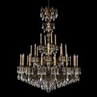 Milano 28-Light Chandelier Finish: Heirloom Bronze, Crystal Color: Spectra