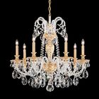 Isabelle 7-Light Chandelier Finish: Parchment Bronze, Crystal Grade: Clear Spectra