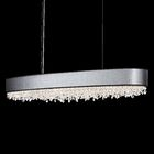 Eclyptix 12-Light Kitchen Island Pendant Shade Color: Silver, Crystal: Spectra Crystal Clear