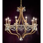 Valterri 10-Light Chandelier Finish: Antique Silver, Crystal Type: Crystal Spectra