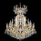 Renaissance 24-Light Chandelier Finish / Crystal Color: Antique Silver / Strass Golden Teak