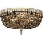 Rialto 5-Light Flush Mount Crystal Type: Spectra Clear, Finish / Crystal Grade: French Gold