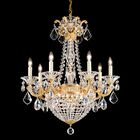 La Scala Empire 9-Light Candle Style Chandelier Finish / Crystal Color: Parchment Bronze / Handcut Clear