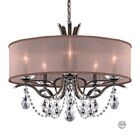Vesca 9-Light Drum Chandelier Crystal Grade: Spectra, Finish: Heirloom Bronze