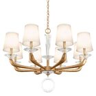 Emilea 8-Light Shaded Chandelier Finish: French Gold