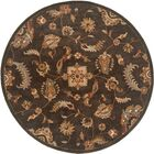 Serene Charcoal Area Rug Rug Size: Round 7'9
