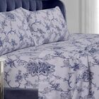 Floral Flannel Sheet Set Size: Queen