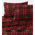 Vintage Plaid Print 4 Piece 100% Cotton Sheet Set Size: California King