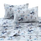 Snowman 170-GSM Printed Flannel Extra Deep Pocket 100% Cotton Sheet Set Size: California King