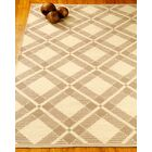 Whimsy Dhurrie Beige/Tan Area Rug Rug Size: Rectangle 4' x 6'