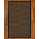 Brokaw Hand Woven Brown Area Rug Rug Size: Rectangle 4' X 6'