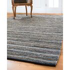 Navarre Hand-Loomed Blue/Brown Area Rug Rug Size: Rectangle 6' x 9'