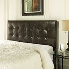 Howell Upholstered Panel Headboard Size: Full/Queen, Color: Brown