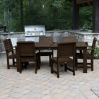 Shondra 7 Piece Rectangular Dining Set Color: Weathered Acorn, Table Top Size: 37'' H x 55.5'' W x 86.5'' L
