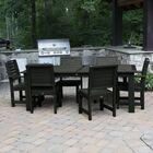 Shondra 7 Piece Rectangular Dining Set Color: Charleston Green, Table Top Size: 37'' H x 55.5'' W x 98.5'' L