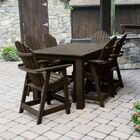 Camacho 7 Piece Rectangular Counter Height Dining Set Color: Weathered Acorn, Table Top Size: 46.5'' H x 84'' W x 115'' L