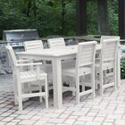 Shondra 7 Piece Rectangular Counter Height Dining Set Color: White, Table Top Size: 43.3'' H x 55.5'' W x 86.5'' L