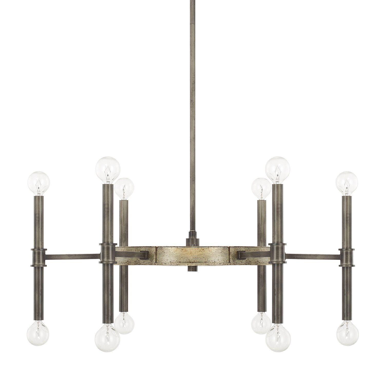 Deller 12-Light Wagon Wheel Chandelier Size: 18.5