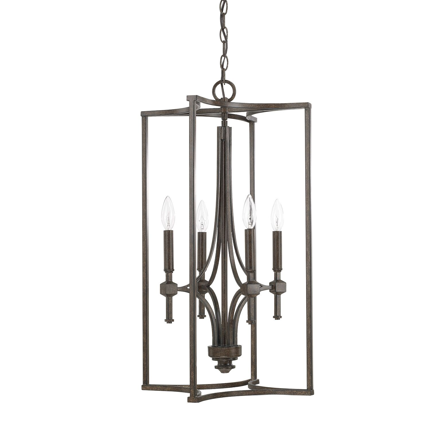Berns 4-Light Square/Rectangle Chandelier