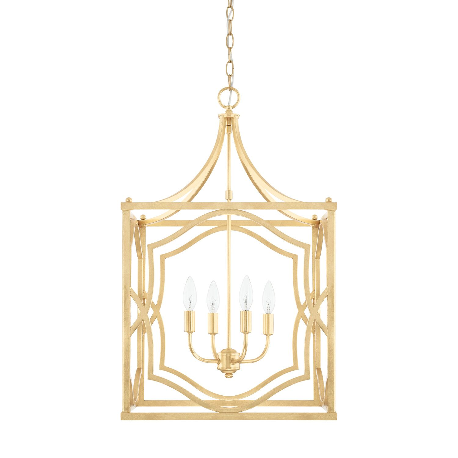 Destrey 4-Light Metal Foyer Pendant