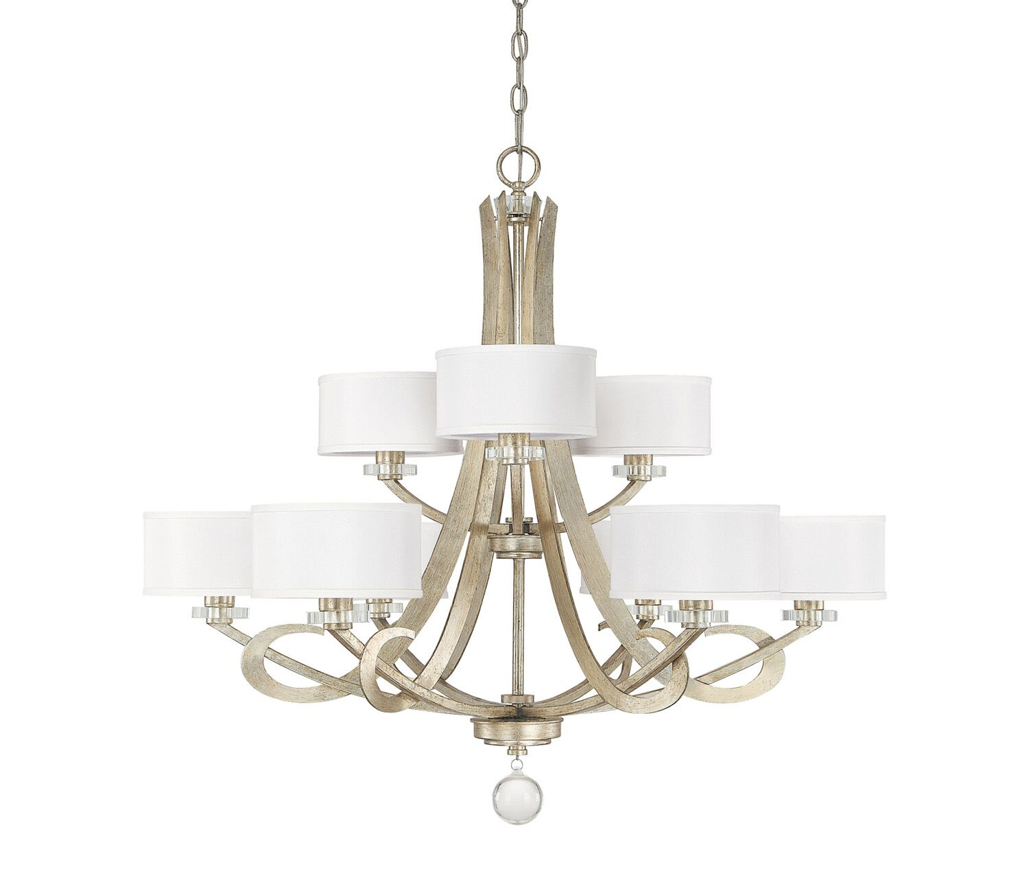 Brownesville 9-Light Shaded Chandelier