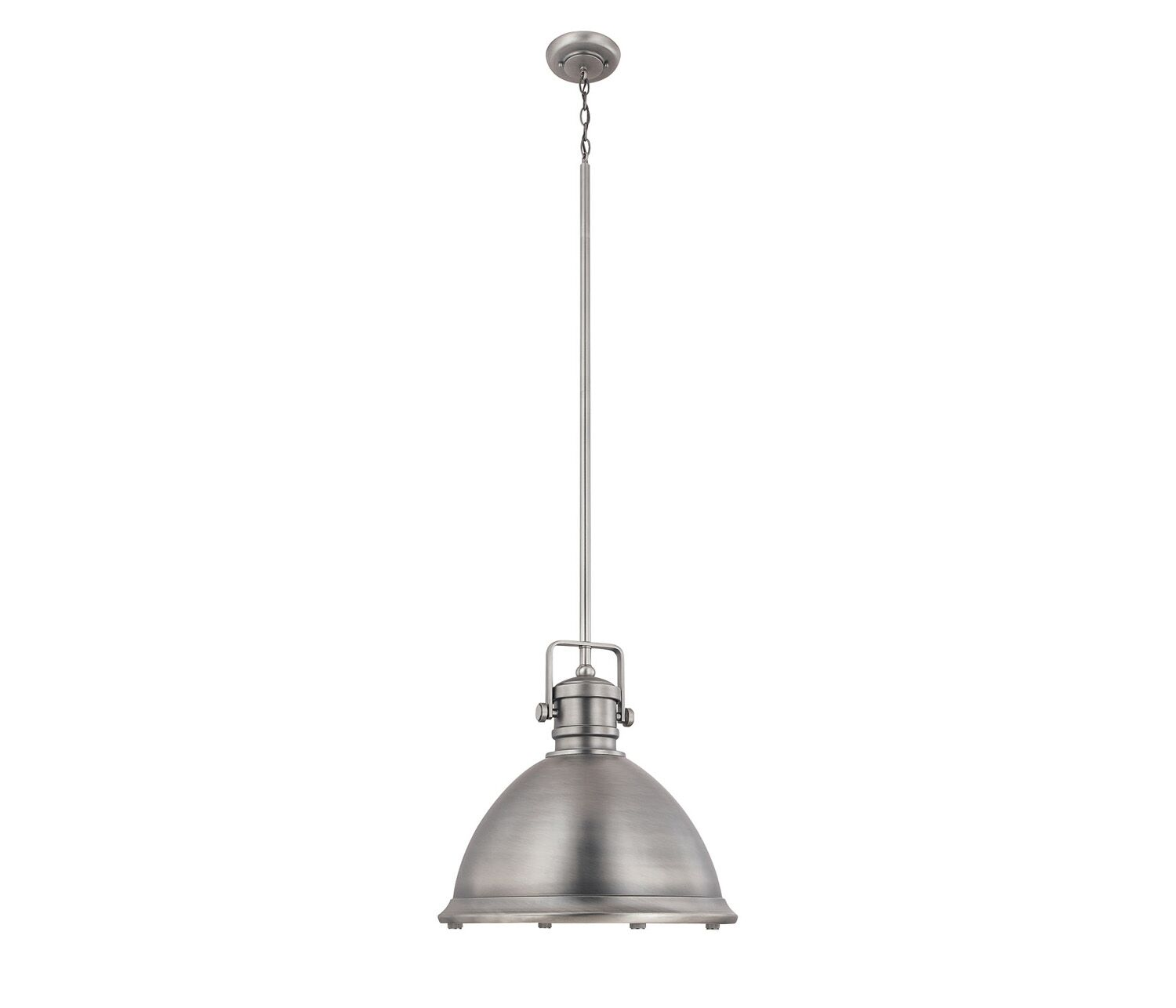Jacobus 1-Light Bell Pendant Finish: Antique Nickel, Size: 51