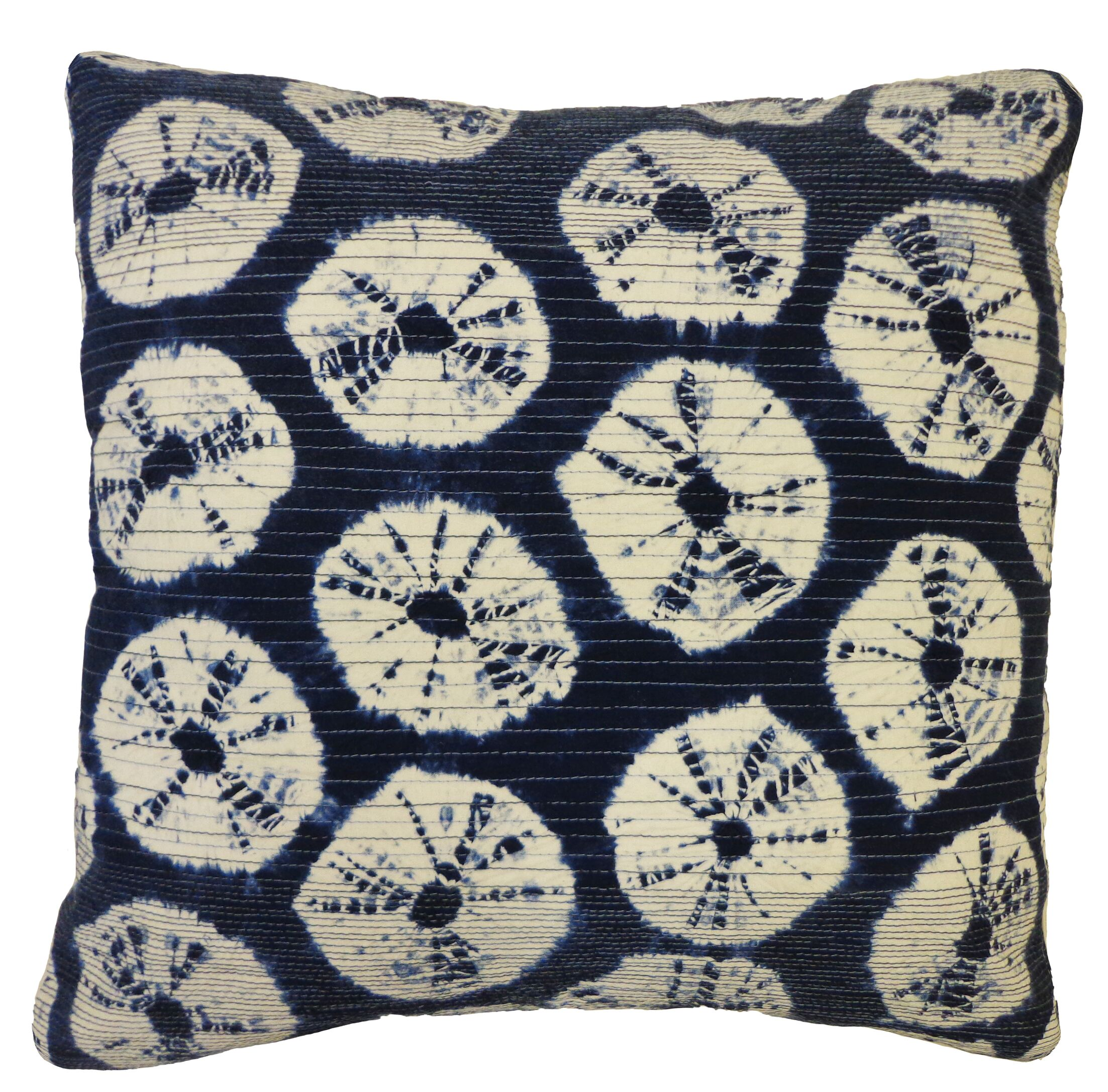 Bright & Fresh Japan Rings Cotton Throw Pillow