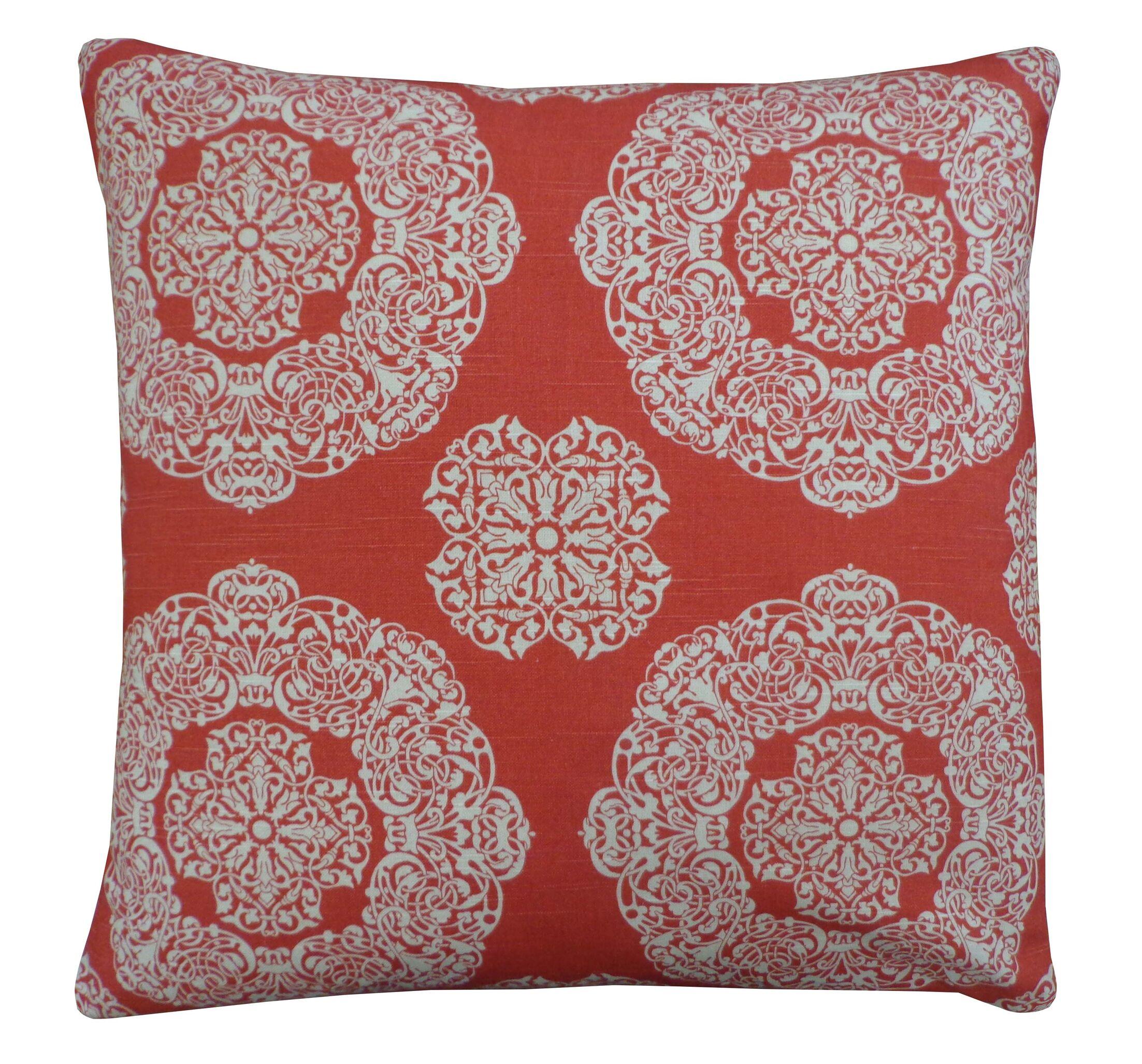 Medallion Cotton Throw Pillow Size: 26
