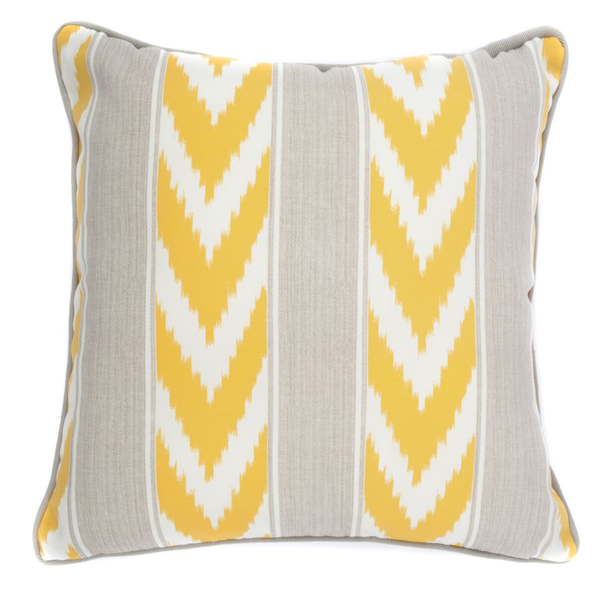 Ikat Stripe Outdoor Throw Pillow Color: Yellow