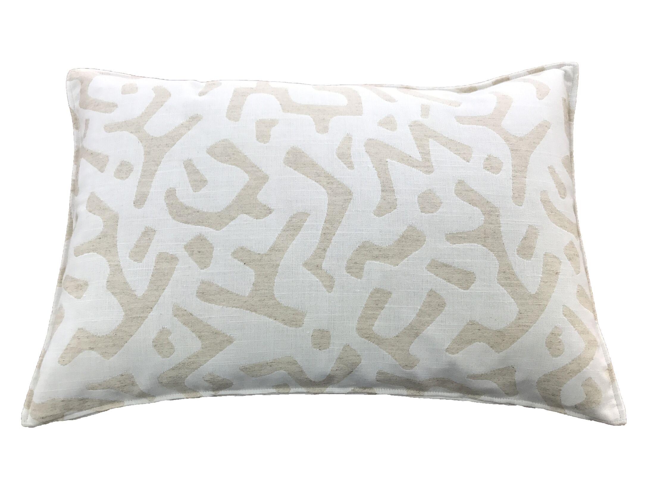 Dashiell 100% Cotton Lumbar Pillow Color: Cream