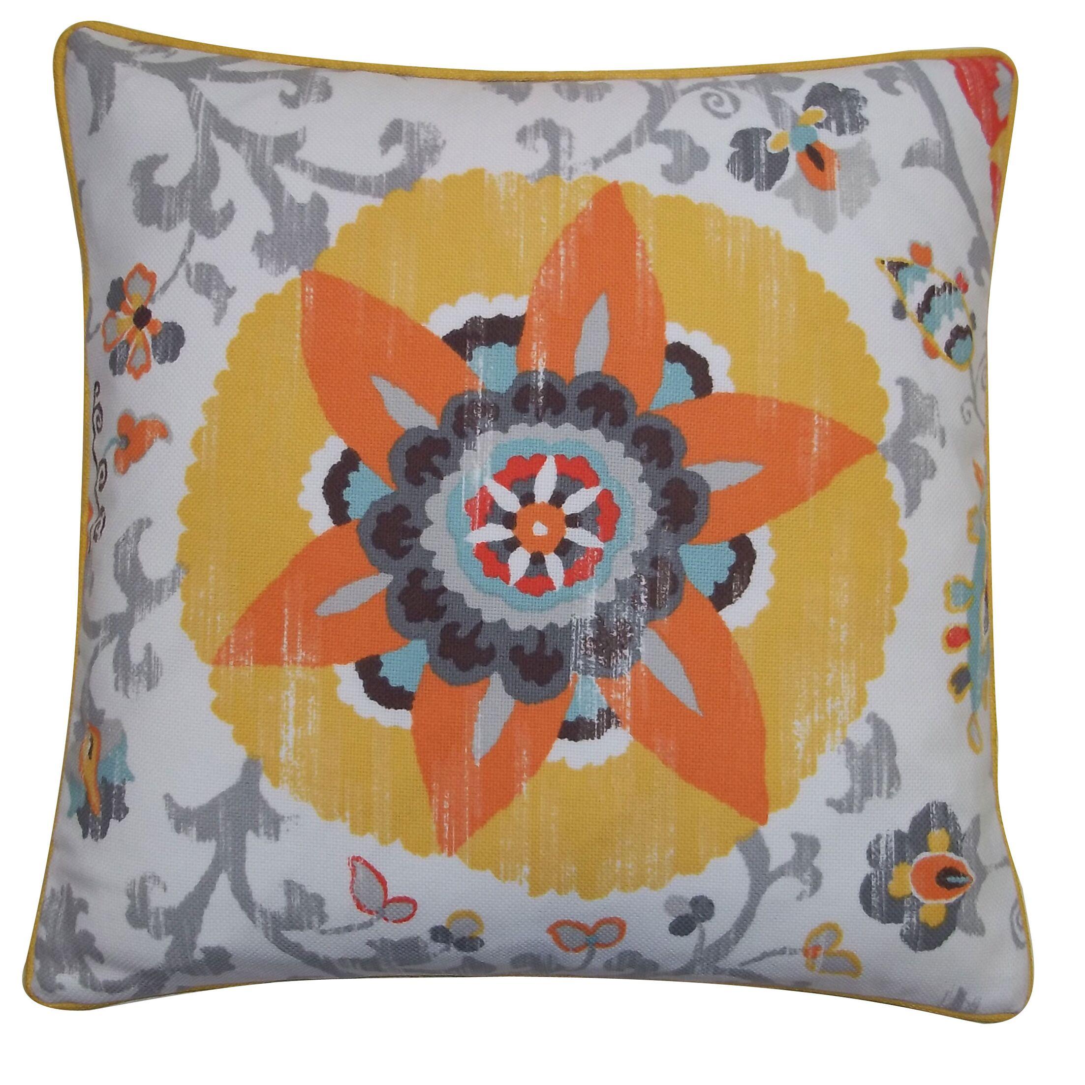 Petals Outdoor Throw Pillow Size: 26