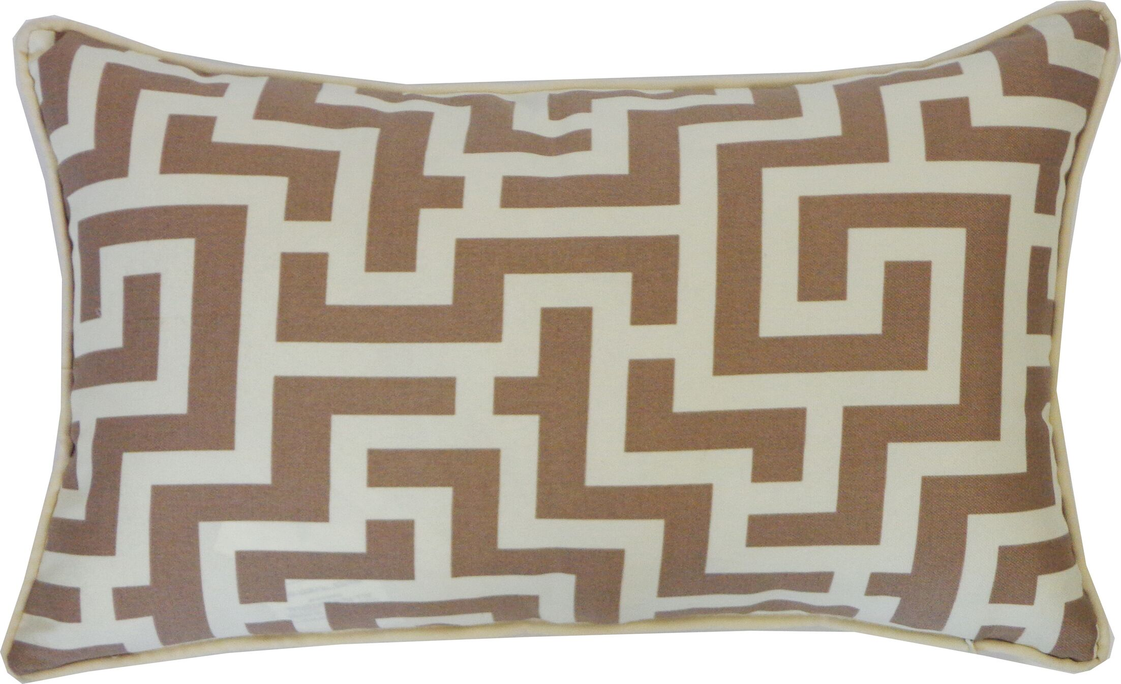 Etch Cotton Lumbar Pillow Color: Taupe