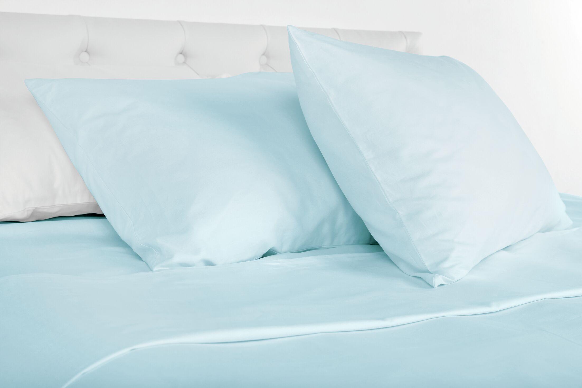 Agata 300 Thread Count 100% Tencel Sheet Set Color: Blue, Size: Queen