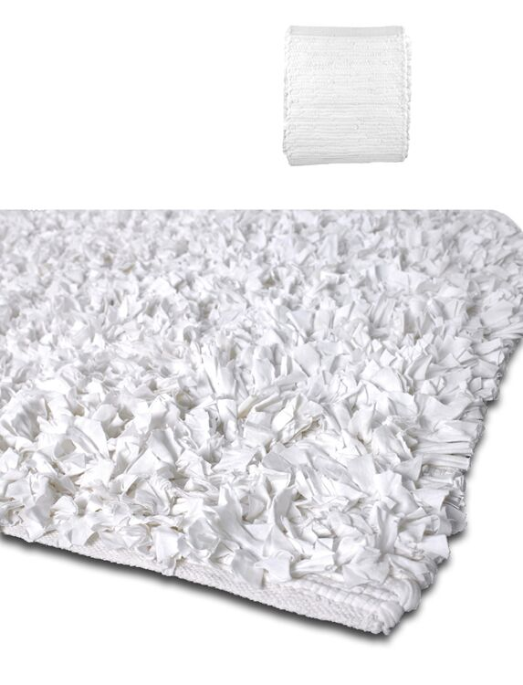 Calypso Jersey White Area Rug Rug Size: Rectangle 5' x 8'