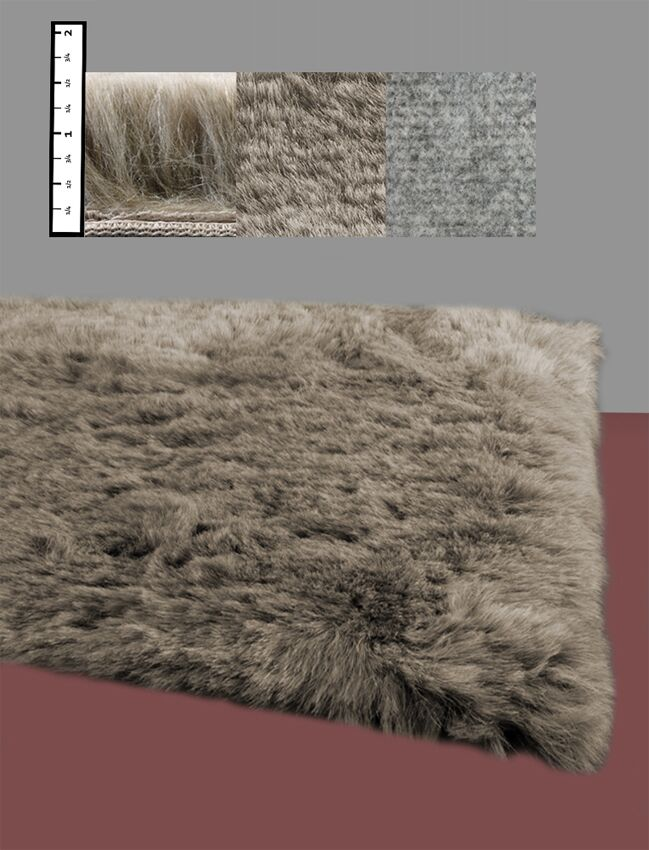 Eros Faux Flokati Brown Area Rug Rug Size: Rectangle 4' x 6'