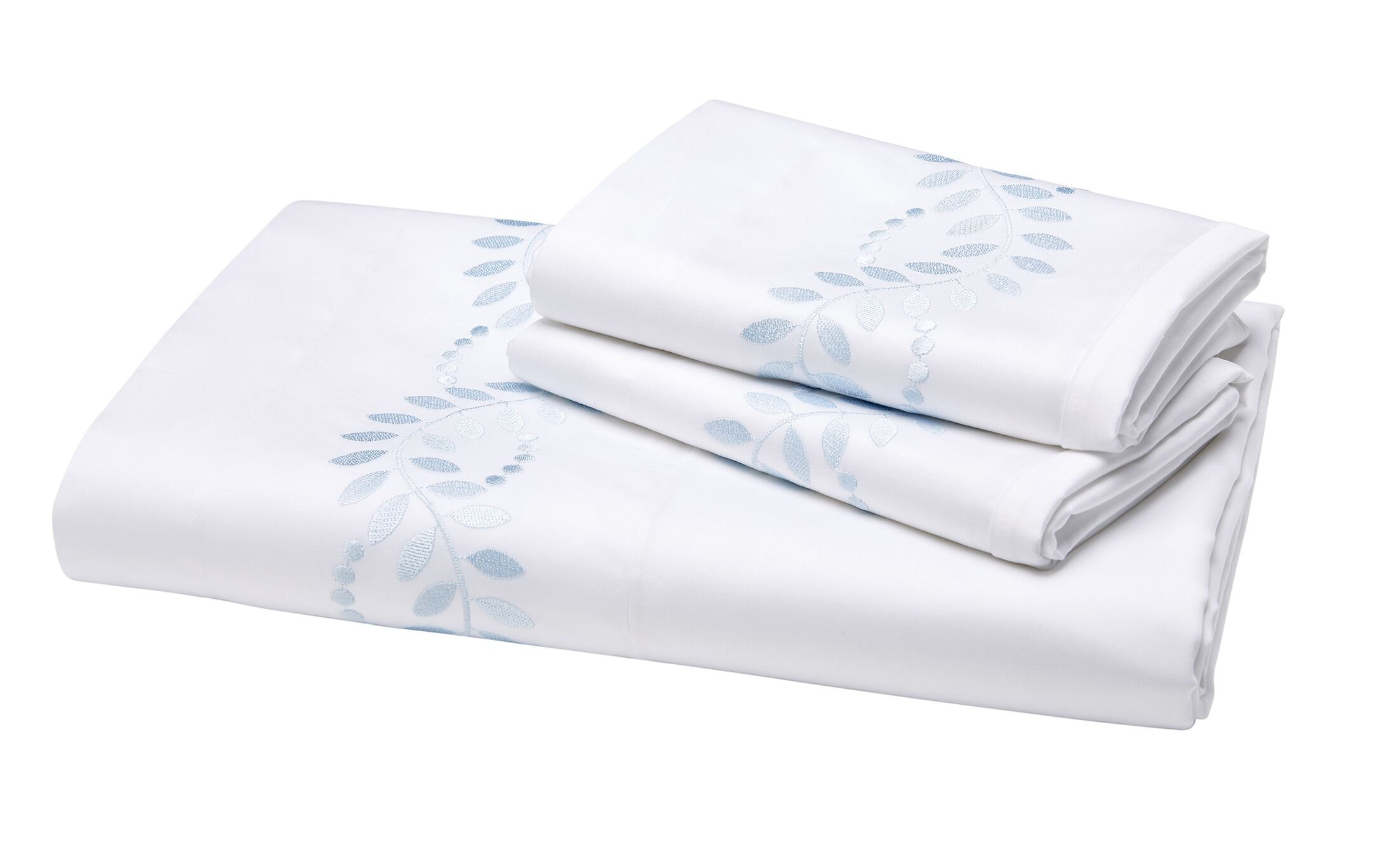 Batterson 300 Thread Count Flat Sheet Color: Blue, Size: Queen