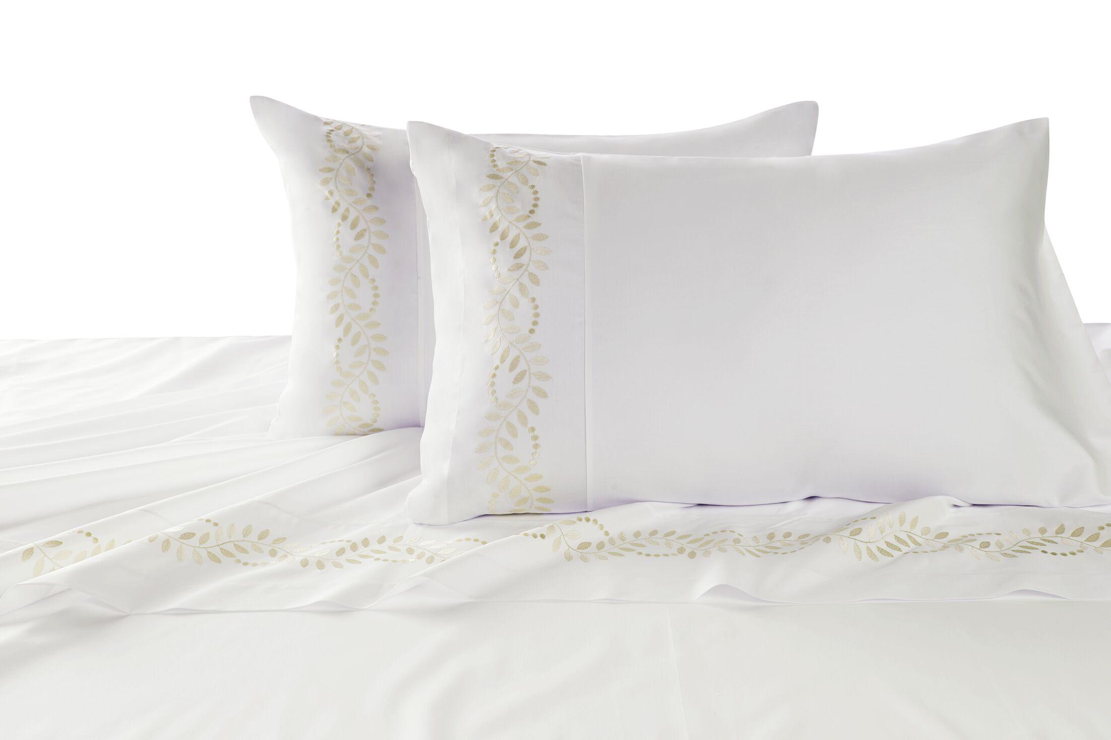 Batterson Cotton Pillow Case Color: Gray, Size: Standard