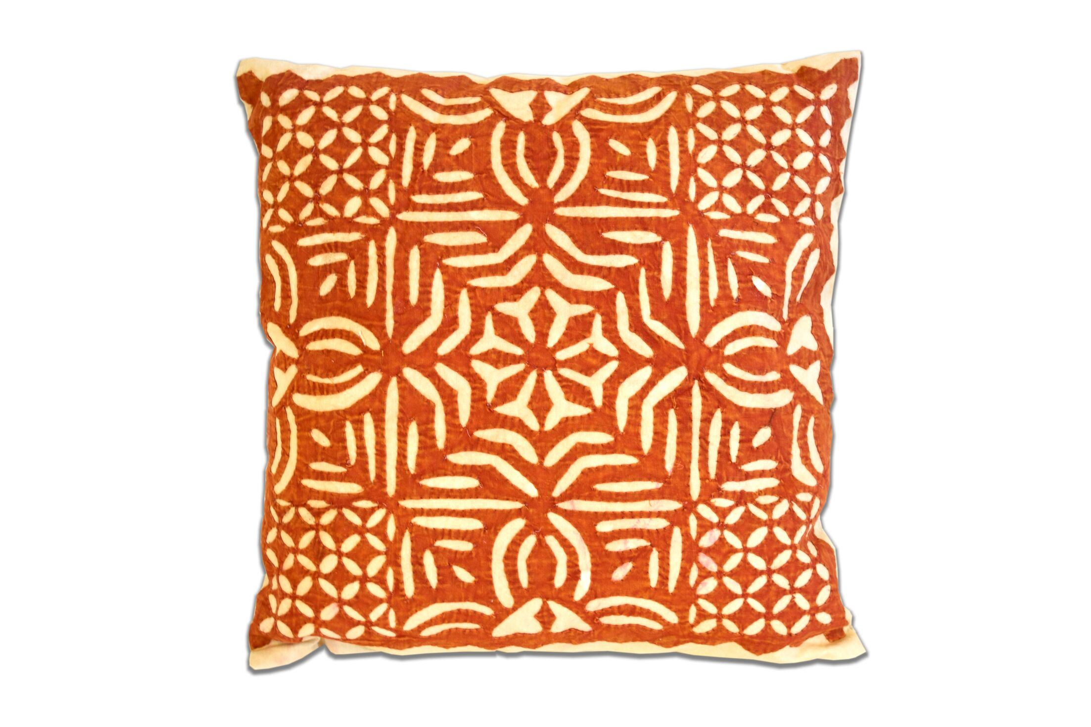 Cotton Throw Pillow Color: Orange
