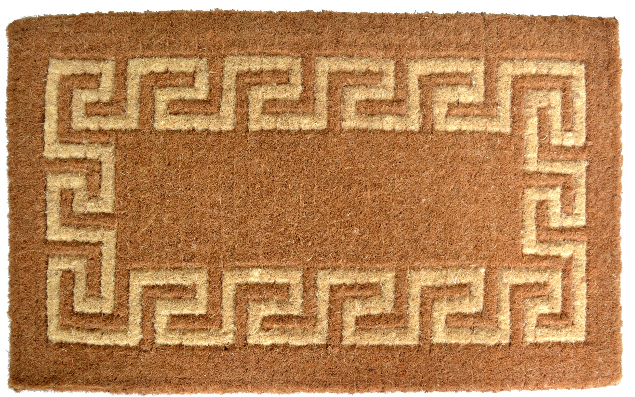 Woven Greek Key Doormat Mat Size: Rectangle 36