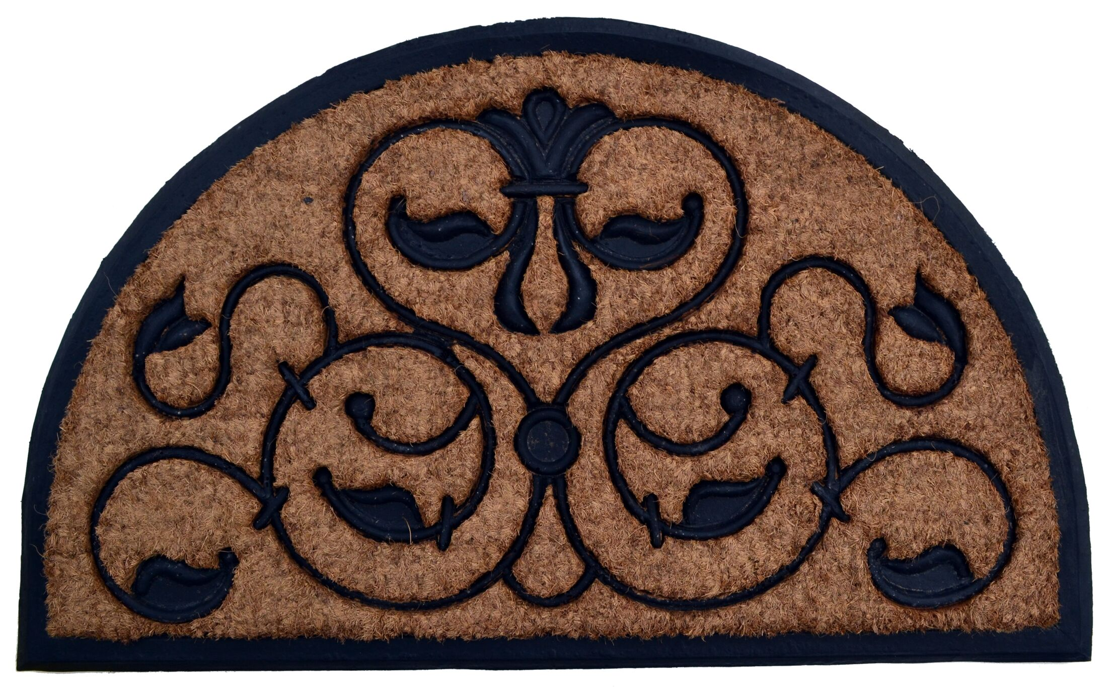 Molded Brigoder Half Round Doormat Mat Size: Semi-Circle 30