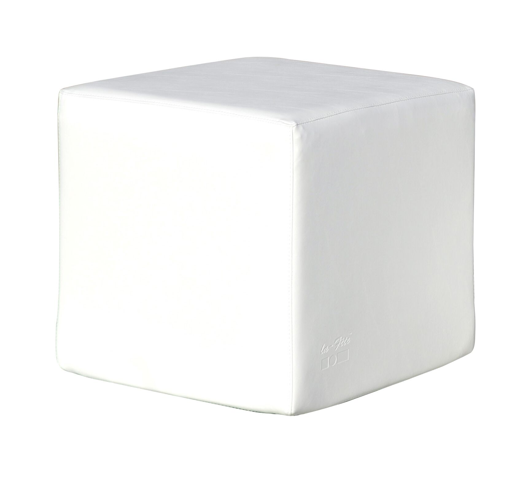 Cube Ottoman Fabric: Cool Lime